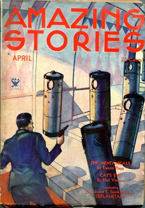 Amazing Stories, April 1934, cover by Le