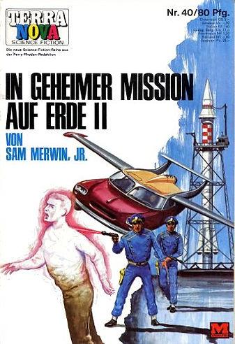 Sam Merwin Jr., The House of Many Worlds, German edition, Terra Nova #40, January 1969, cover art by Karl Stephen