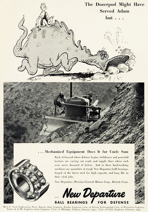 New Dimensions Dozerpod ad 1942 drawn by