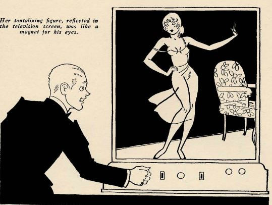 """Illustration for """"Love in the Afternoon,"""" by Frank Kenneth Young, Pep Stories, April 1932, page 57"""