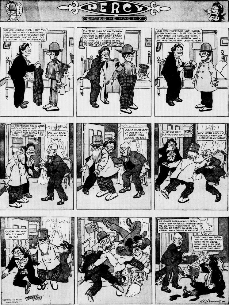 19120915 [Washington, DC] Evening Star, September 15, 1912 Percy mechanical man