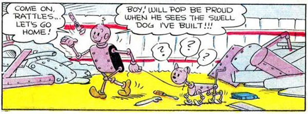 Popeye #27, January-March 1953, Axle and Cam p2 panel