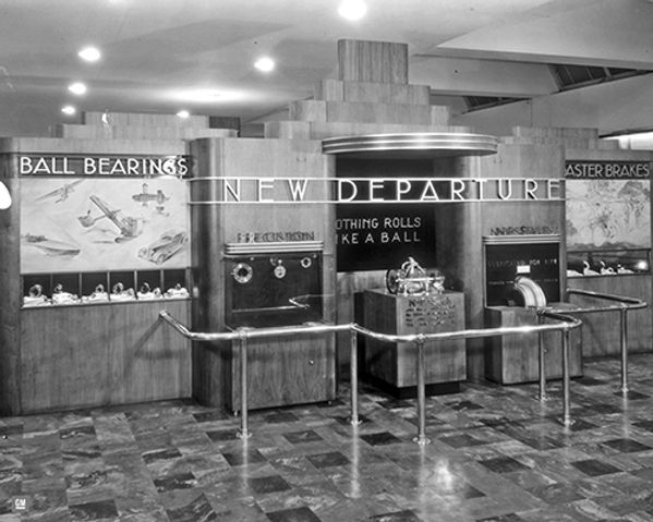 New Departures display -1933 Worlds Fair