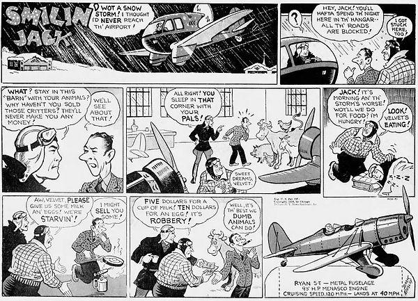 Smilin' Jack, February 9, 1936