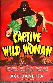 Captive Wild Woman, 1943, poster