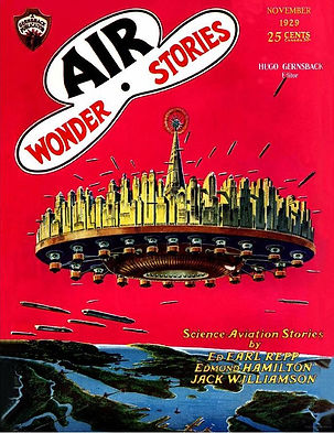 Air Wonder Stories, November 1929 cover, Frank R. Paul art