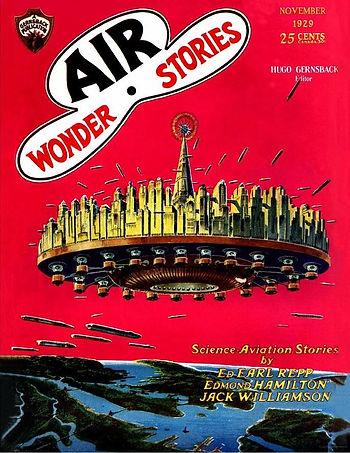 Air Wonder Stories, November 1929 cover, Frank R. Paul art
