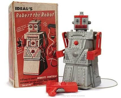 Ideal, Robot the Robot with box