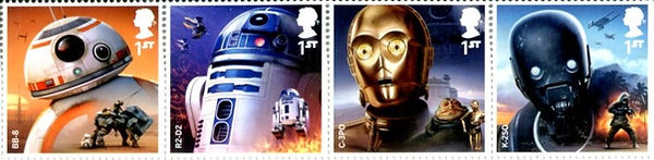 UK 1st class series Star Wars droids, 2017