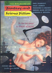 F&SF, December 1956, cover by Kelly Freas