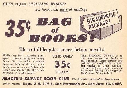 1955-07 Galaxy, Reader's Service Book Club ad