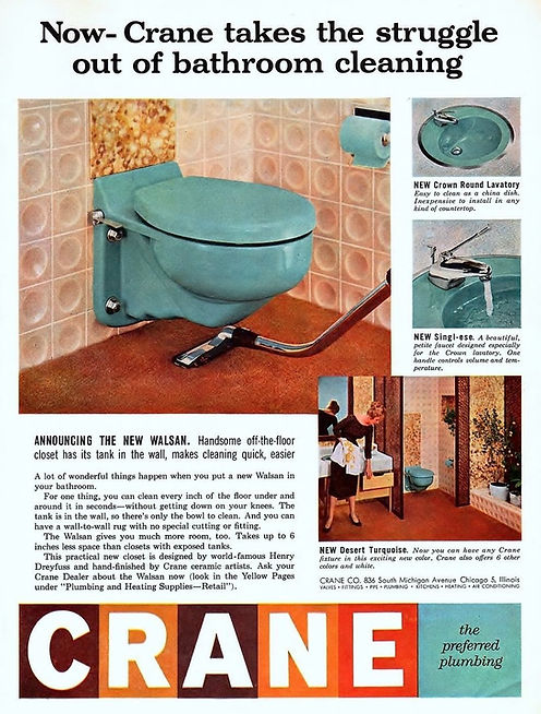 1957 Crane Plumbing ad
