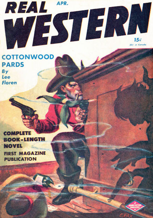 1946-04, Real Western, cover art by Elto