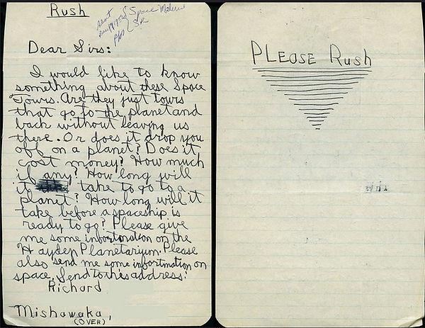 Richard from Mishawaka letter to Hayden.