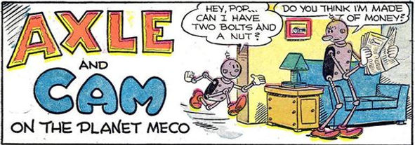 Popeye #26, October-December 1952  Axle and Cam splash panel