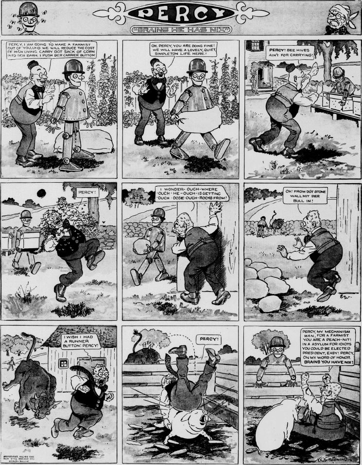 19120519 [Washington, DC] Evening Star, May 19, 1912 Percy mechanical man