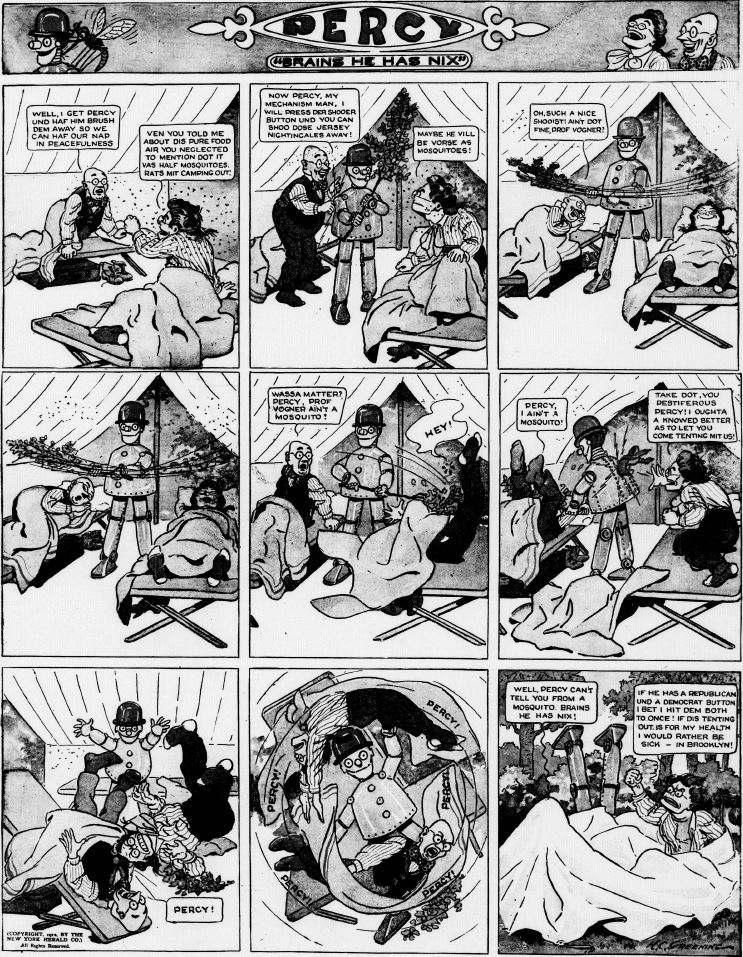 19120714 [Washington, DC] Evening Star, July 14, 1912 Percy mechanical man