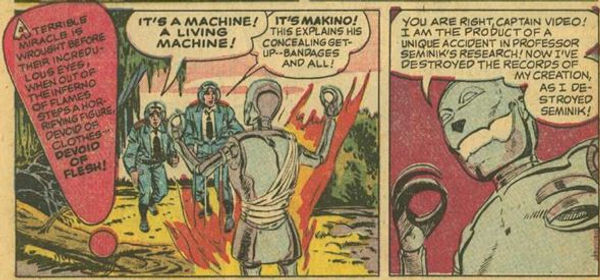 Captain Video #3 June 1951 The Indestructible Antagonist p. 6, panel