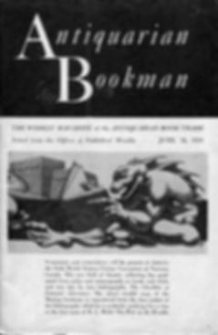 Antiquarian Booman, June 26, 1948, cover