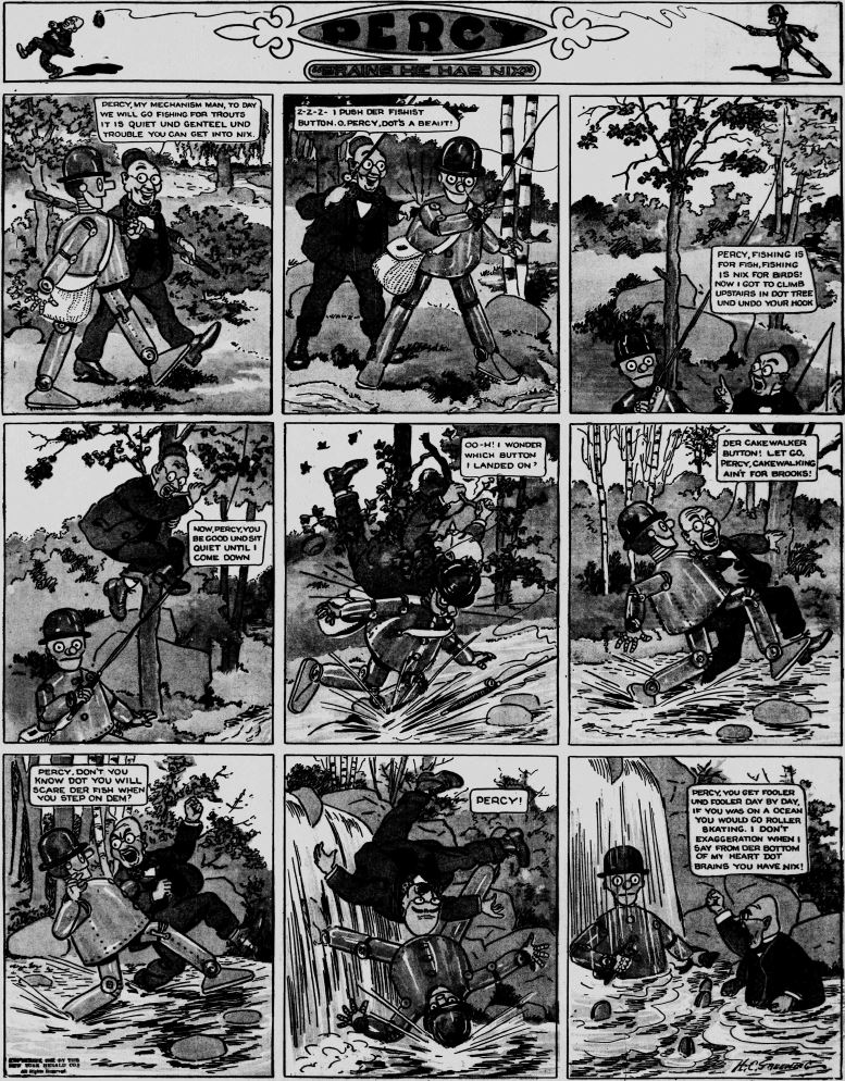 19120407 [Washington, DC] Evening Star, April 7, 1912 Percy mechanical man