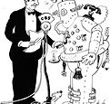 Rube Goldberg promotion cartoon for 1935
