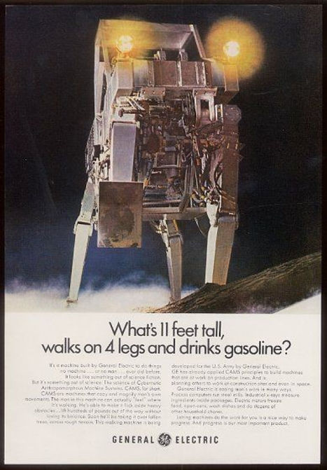 GE color ad for walking truck, c1969