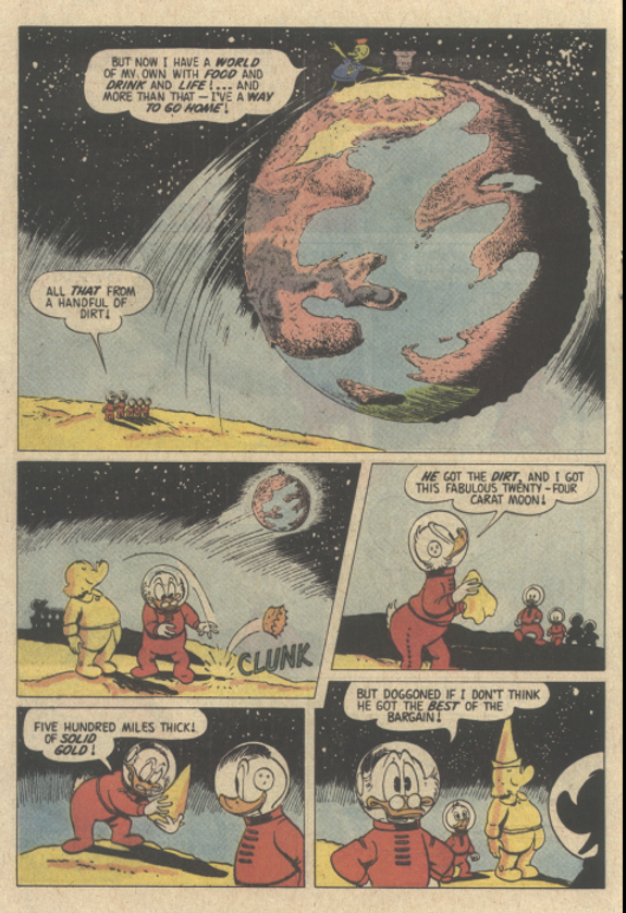 The Twenty-Four Carat Moon, Uncle Scrooge 24 (December 1958) final page