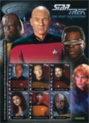 Palau 75 cent Star Trek The Next Generation 6 Stamp Sheet, 2008