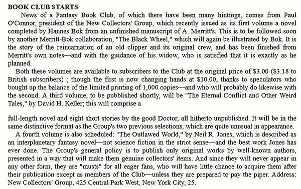 Fantasy Review, Aug-Sep 1947 Fantasy Book Club