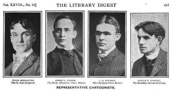 Donald F. Stewart, Literary Digest photo