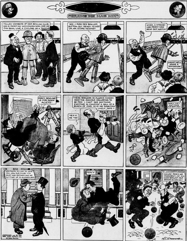 19120421 [Washington, DC] Evening Star, April 21, 1912 Percy mechanical man