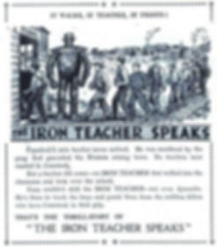 The Hotspur #411, July 12, 1941, The Iron Teacher promo