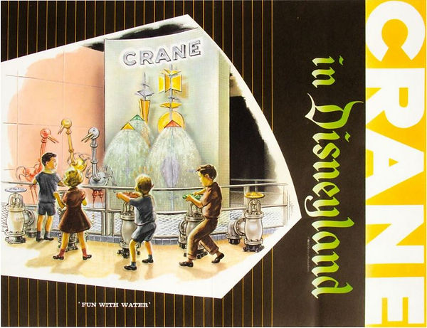 Crane Disneyland brochure cover - Fun With Water