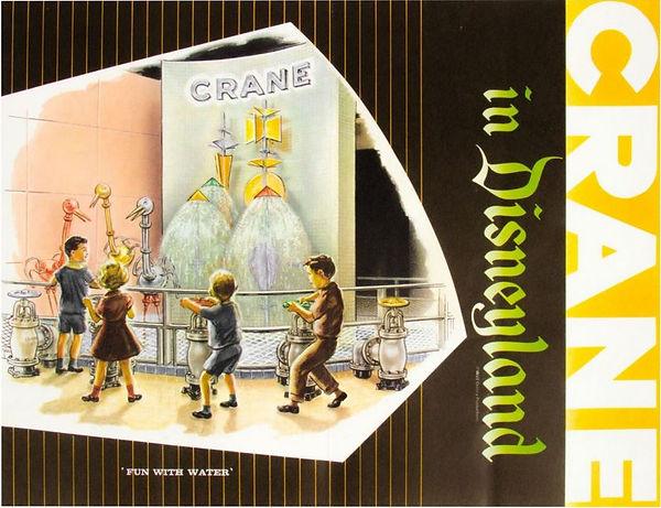 Crane Disneyland brochure cover - Fun With Water
