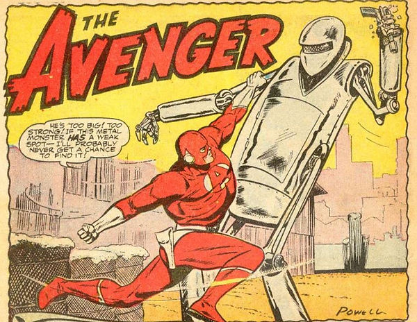 The Avenger #3 June-July 1955, p. 1, panel