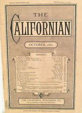 The Californian, October 1880, cover