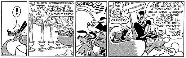 Mickey Mouse World of Tomorrow strip 8-17-44