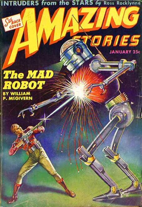 Amazing Stories, Jan.  1944, cover art b