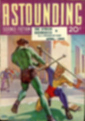"""Astounding Science-Fiction April 1941, containing Asimov's """"Reason."""" Art by Hubert Rogers"""