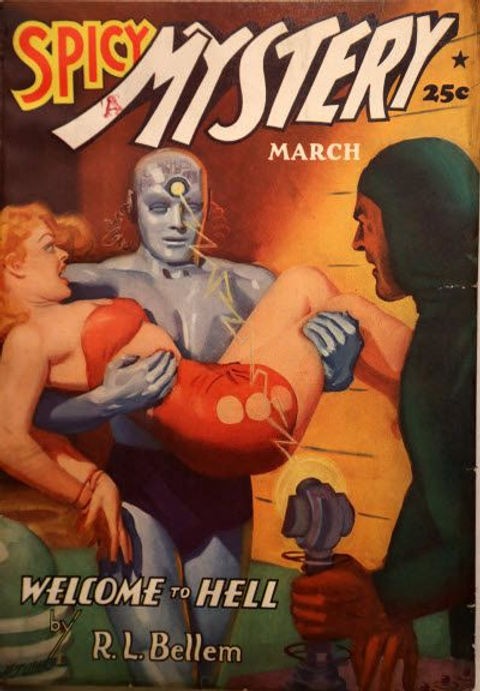 Spicy Mystery Stories, March 1941, HUGH