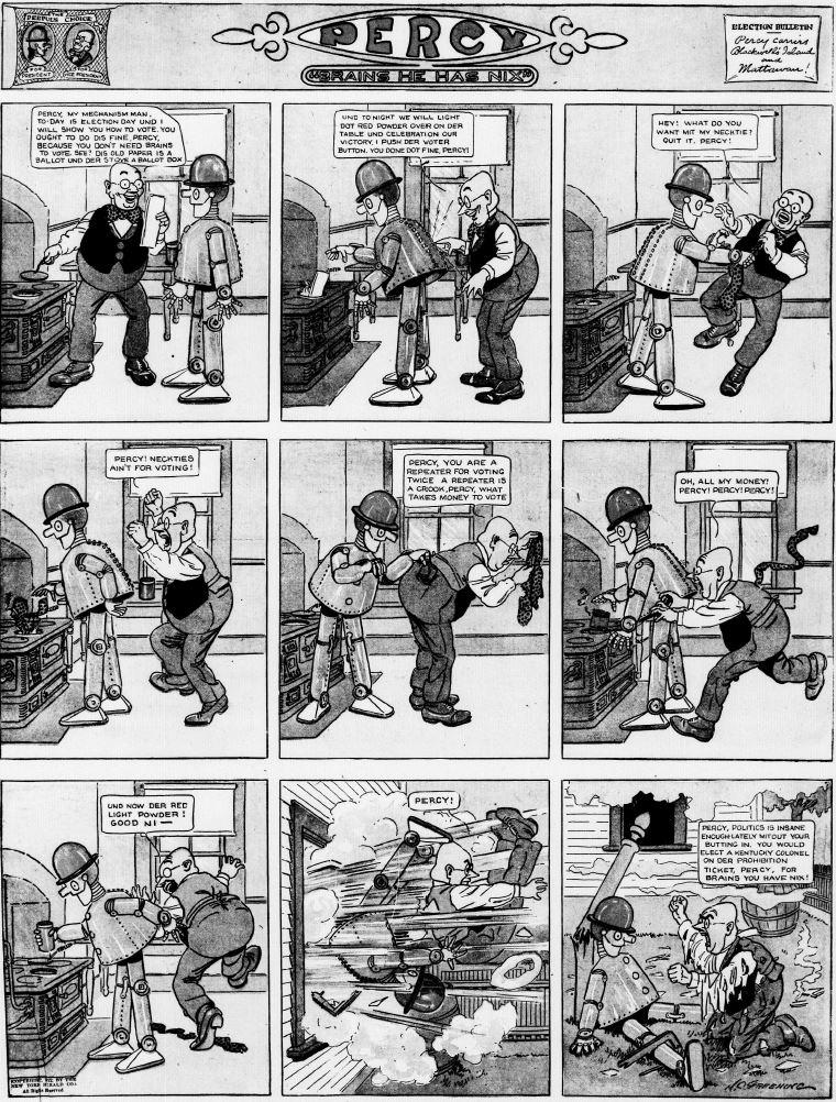19121103 [Washington, DC] Evening Star, November 3, 1912 Percy mechanical man