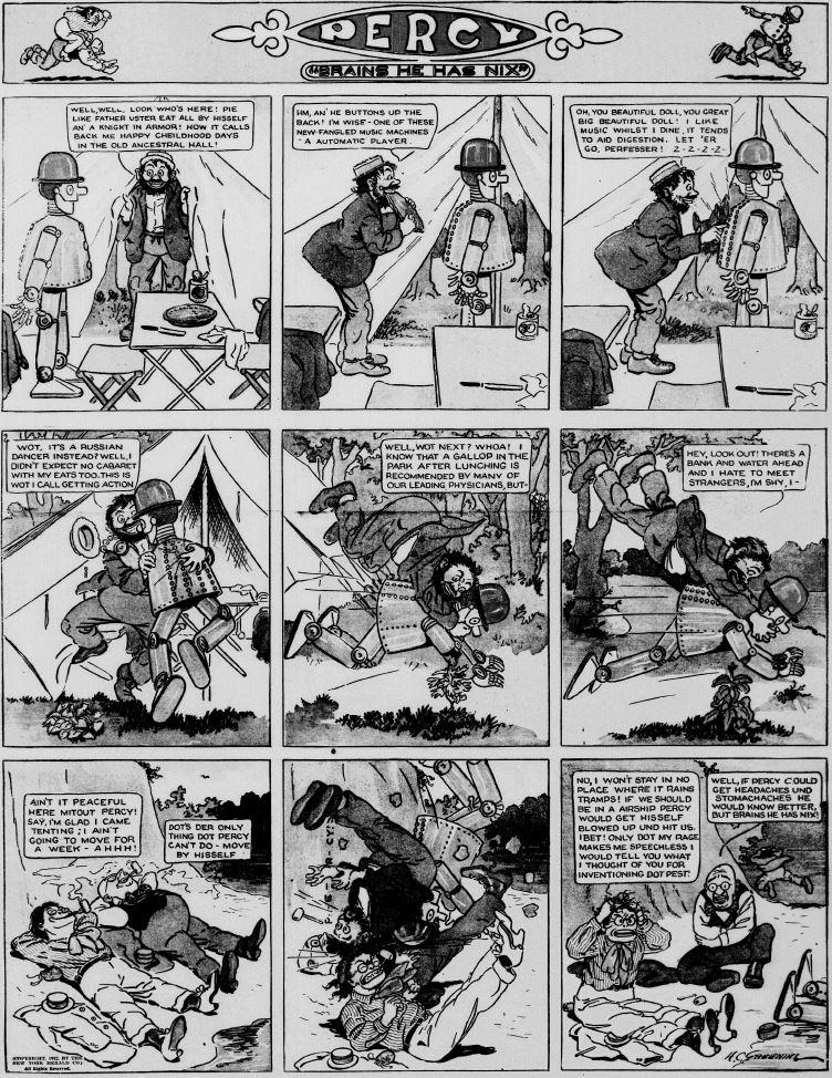 19120818 [Washington, DC] Evening Star, August 18, 1912 Percy mechanical man