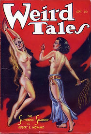 Weird Tales, September 1933, cover by Margaret Brundage