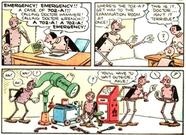 Popeye Comics #28, April-June 1953, Axle and Cam p3