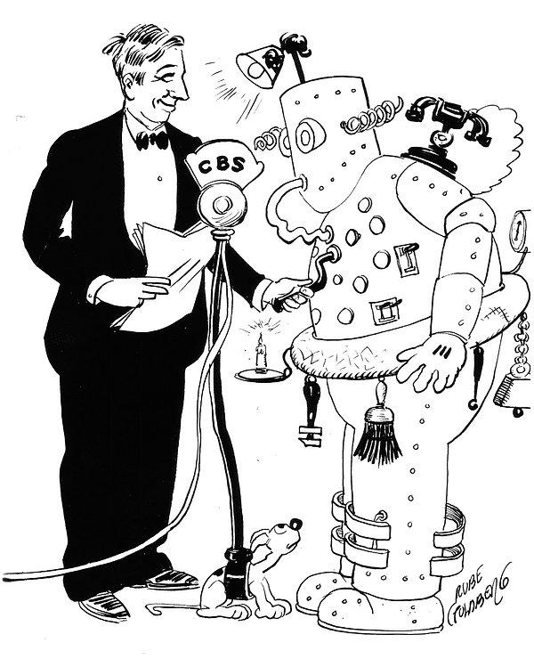 Rube Goldberg promotion cartoon for 1935 radio show