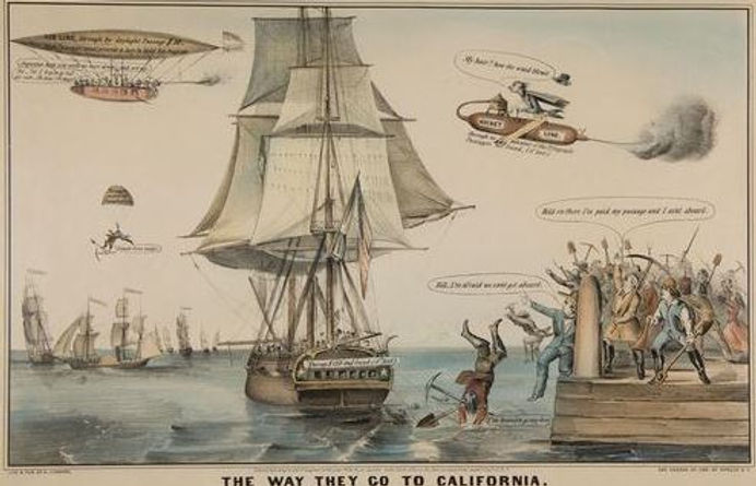 Nathaniel Currier, 1849, The Way They Go to California