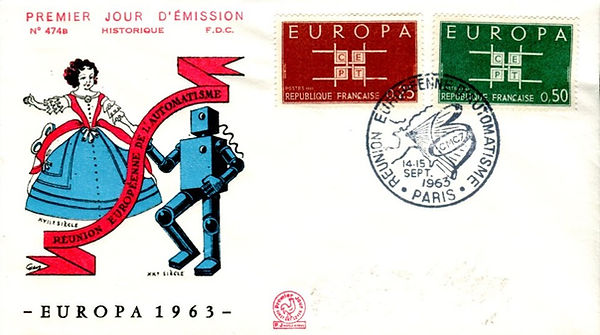French First Day Cover withrobt cachet honoring EU Automation Conerence 1963