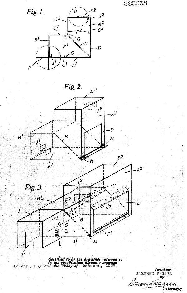 CA patent 385558, Stephen Pribil apparatus