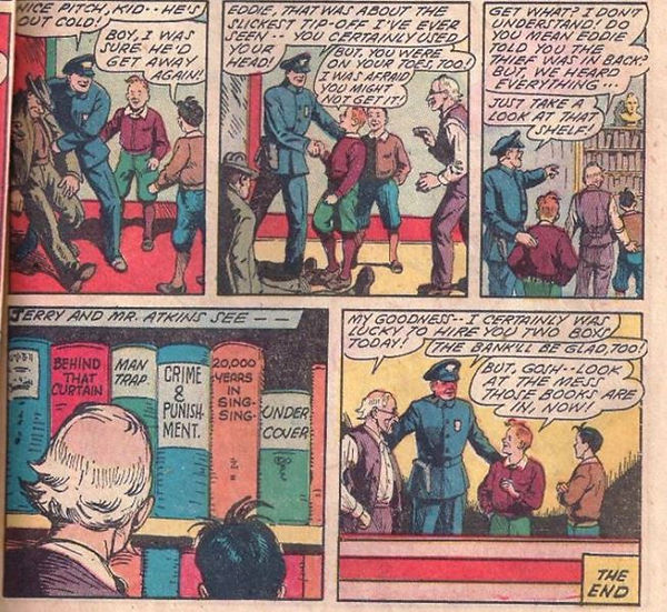 Edison Bell panel from 4Most Boys #40, Apr-May 1950