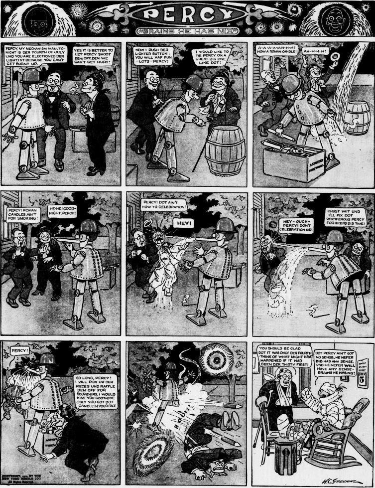19120630 [Washington, DC] Evening Star, June 30, 1912 Percy mechanical man